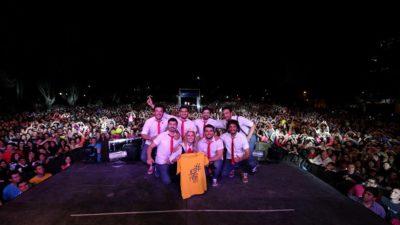 La Plata / Agapornis tocó ante miles de jóvenes por el Día de la Primavera