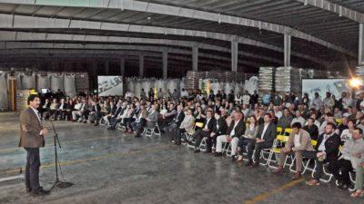 """Rojas / Sarquis participó de la inauguración de una planta de semillas """"en el interior percibimos una gran energía"""""""