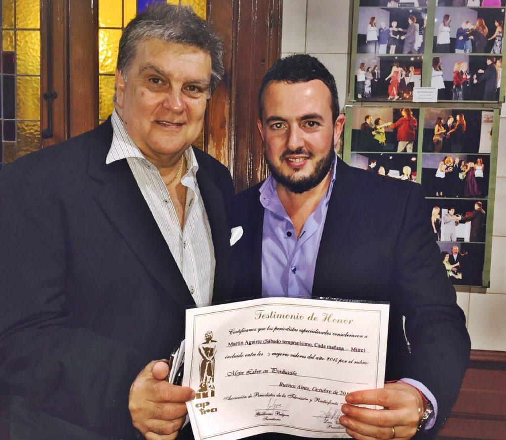 Con Luis Ventura, presidente de APTRA