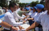 Castelli / Sebastián Echarren en el egreso de 140 policías agradeció a Vidal