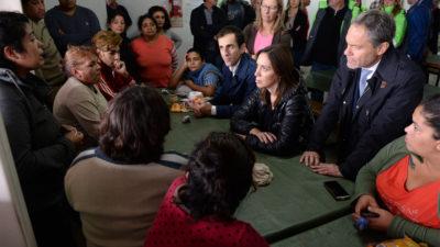 Inundaciones / Vidal visitó Junín y los ministros Buryaile y Sarquis recorrieron la zona de Villegas