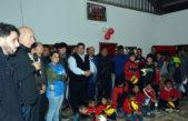 """Berisso / El club deportivo recibió material deportivo a través del programa """"Acá estamos"""""""