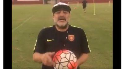 """Se viralizó un video de Maradona pidiendole al presidente """"Macri, largá a Maldonado"""""""