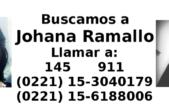 La Plata / Realizarán un mural en reclamo por la aparición de Johana Ramallo