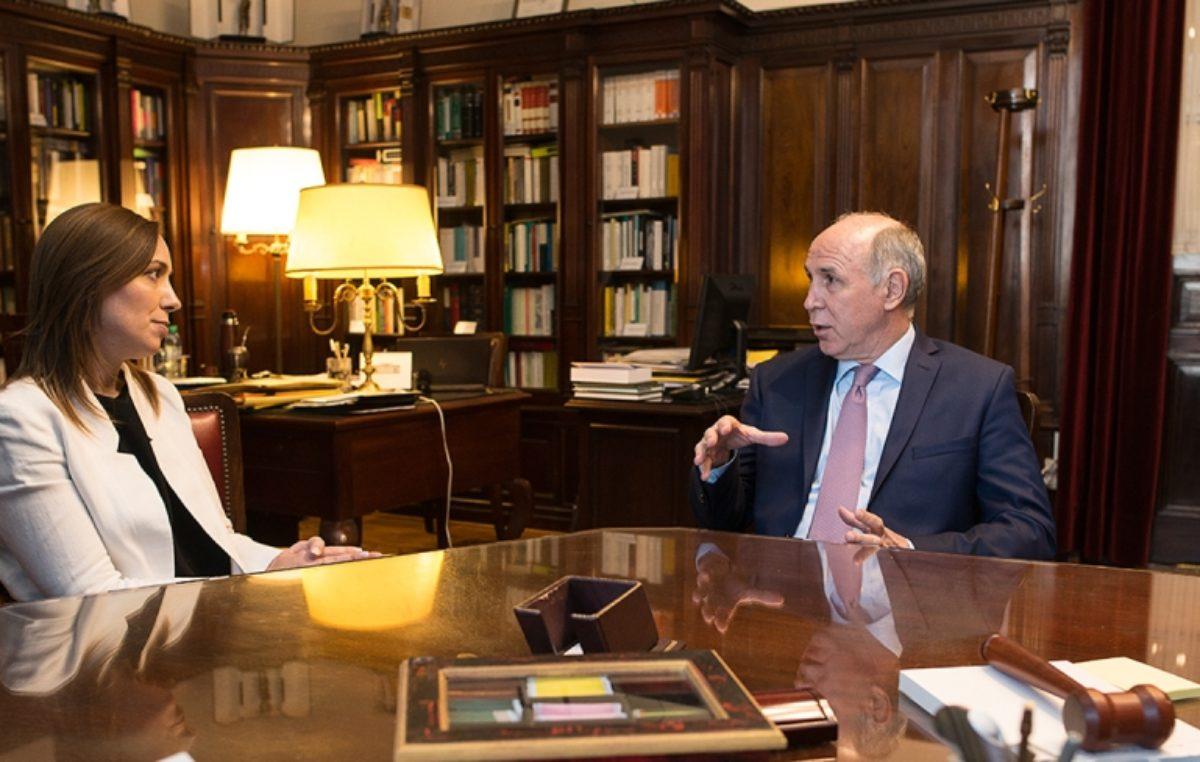 El presidente de la corte Ricardo Lorenzetti se reunió con Vidal y el mensaje político tiene olor a Fondo del Conurbano