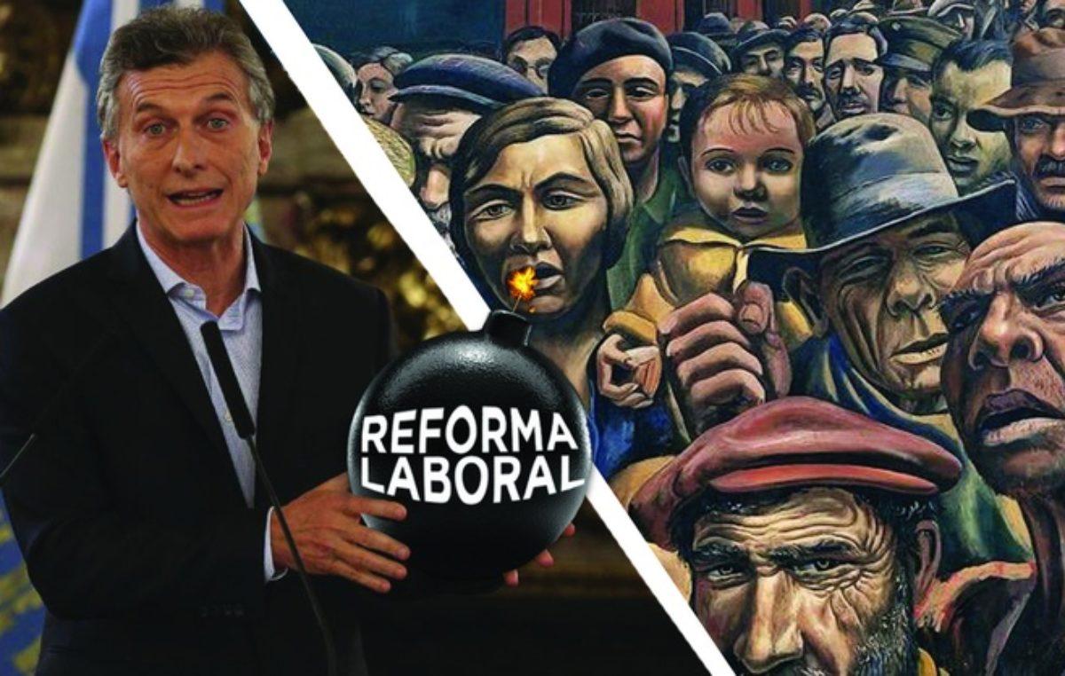 Villa Gesell / Piden la liberación de militantes del Frente de Izquierda que realizaban un mural contra la Reforma Laboral