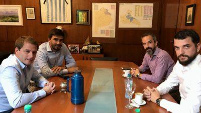 Galli se reunió con el Senador Jaúregui pensando en el próximo foro de intendentes de Olavarría