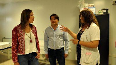 Vidal recorrió el renovado Hospital de General Rodríguez junto al intendente Darío Kubar