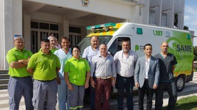 Coronel Pringles recibió del SAME provincia una nueva ambulancia equipada con tecnología de punta