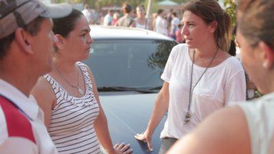 La senadora Reich se mete en territorio massista y visita obras para 190 familias en Tigre