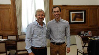 Petrecca y Frigerio analizaron las obras en Junín