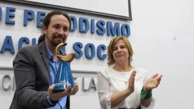 La Facultad de Periodismo de la UNLP otorgó el premio Rodolfo Walsh a Pablo Iglesias de PODEMOS
