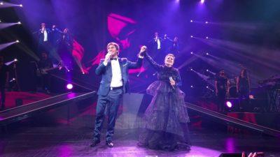"""""""Juntos por la Paz"""" La estrella Alejandra Guzmán y Odino Faccia ovacionados en el Radio City Hall de Nueva York"""
