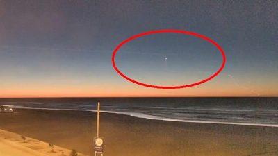 VIDEO / En Claromecó filmaron una misteriosa luz dando extraños giros en el cielo