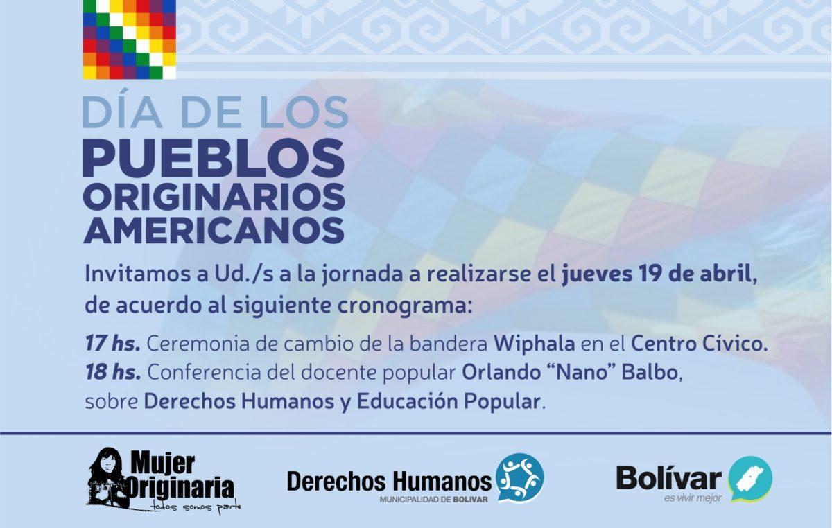 Se llevará a cabo una jornada en Bolívar por el Día de los Pueblos Originarios Americanos