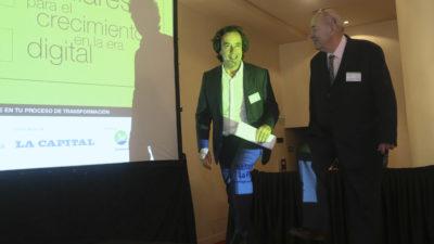 El secretario de Medios de la provincia, Mariano Mohadeb abrió la jornada de capacitación para editores y directores periodísticos en Mar del Plata