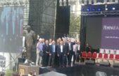 Se inauguró en La Plata el monumento al ex presidente Raúl Alfonsín