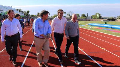 Se reinauguró la pista de atletismo del Estadio Único de La Plata de cara a los Juegos Bonaerenses 2018