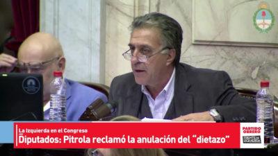 """Pitrola: """"Macri propone un dietazo en blanco"""""""