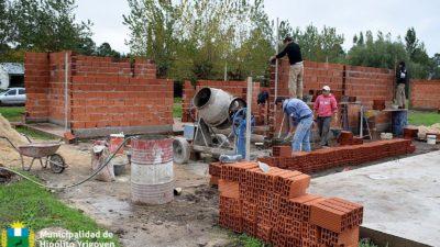 H. Yrigoyen / La Municipalidad avanza con la construcción de casas del Plan Solidaridad