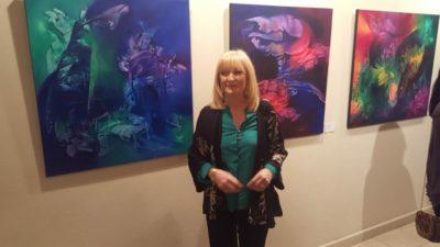 Emilia Ghiraldi  y una exitosa muestra de pintura esencialista