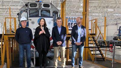 Macri y Vidal inauguraron el nuevo taller ferroviario de Bragado que fue cedido a una empresa rusa