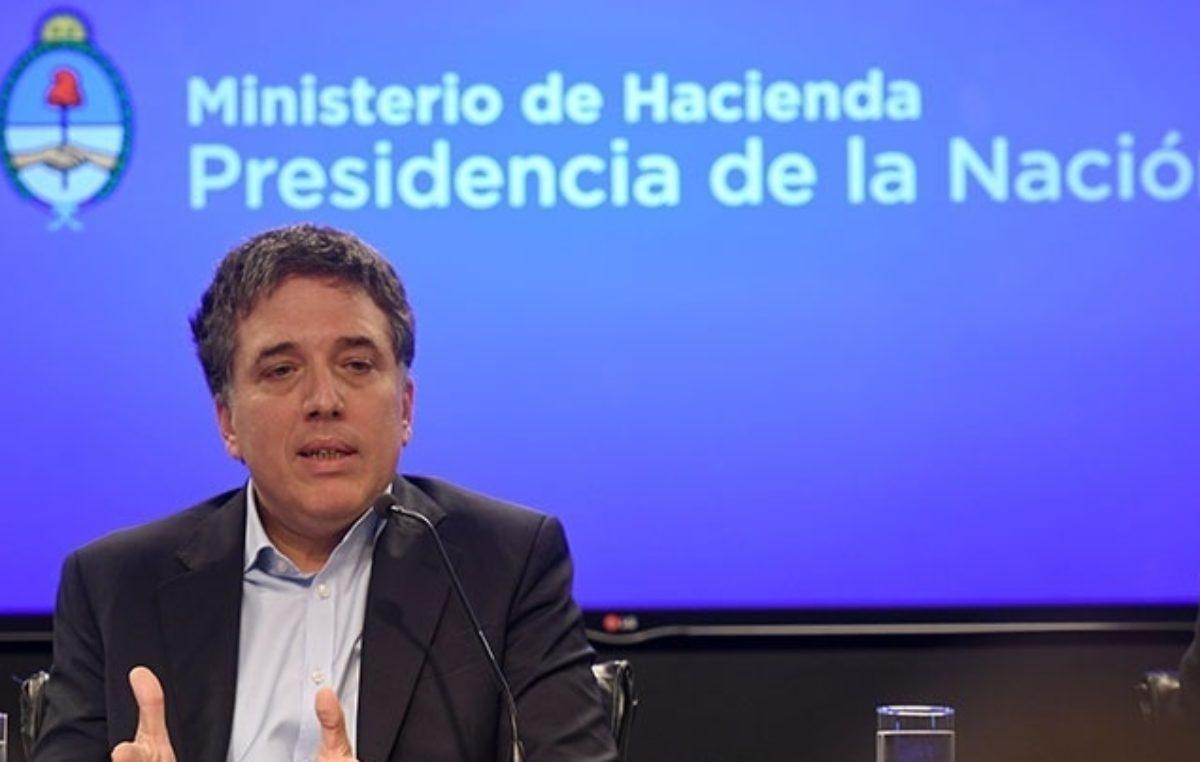 Dujovne anunció ajuste en la política fiscal y reduce meta de déficit a 2,7%