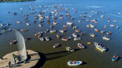 """Se hizo la """"Fiesta del Pejerrey"""" en Junín y el primer premio fue para un pescador de Lobos"""