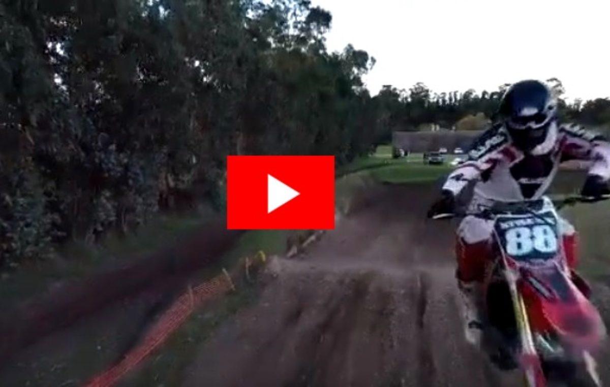 VIDEO / un dron lesionó a un piloto de motocross en Mar del Plata