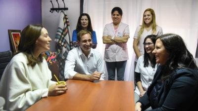 La Plata / Garro recorrió junto a Vidal el Centro Municipal de Atención Integral para la Mujer