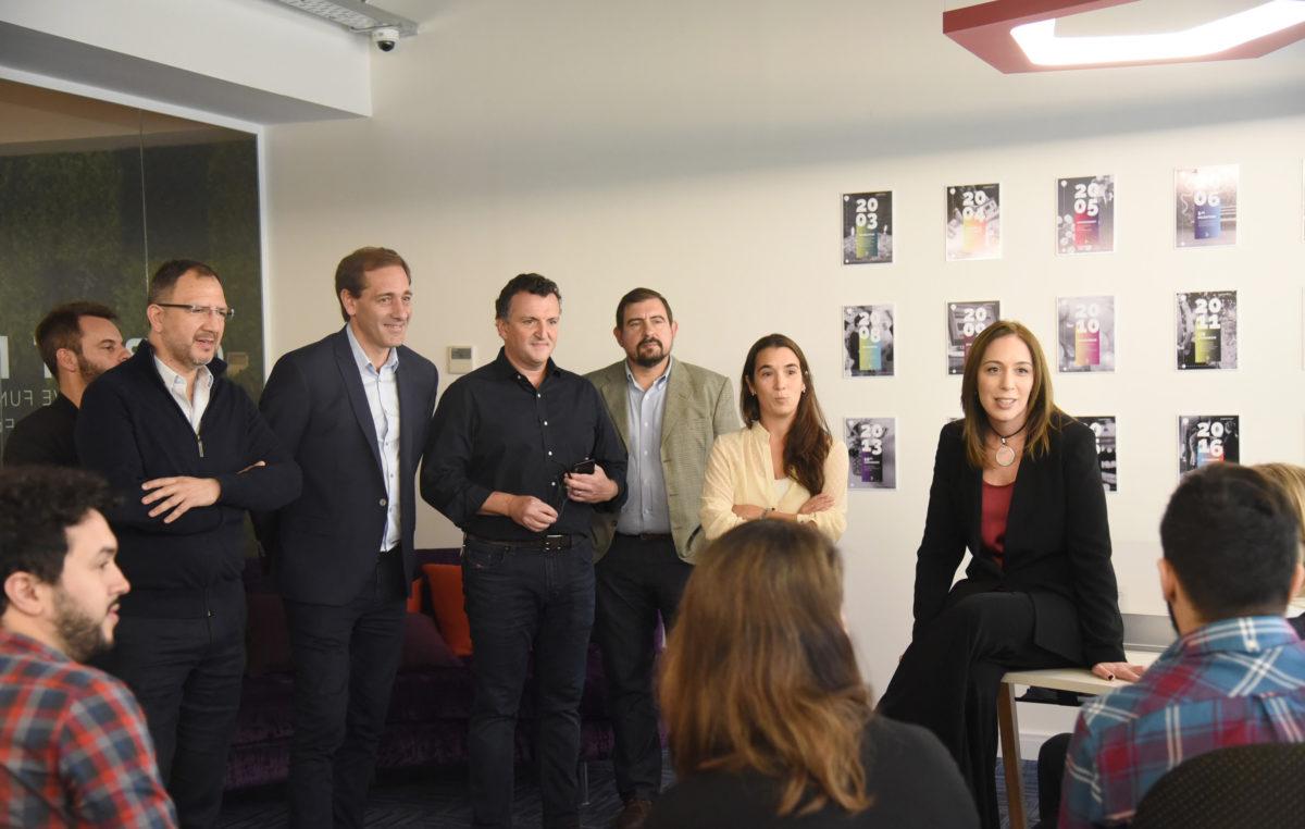 Garro y Vidal visitaron las nuevas oficinas en La Plata de la empresa globant